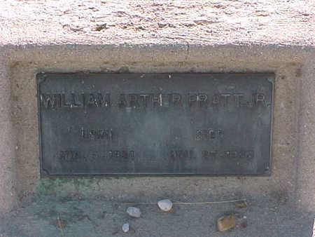 PRATT, WILLIAM ARTHUR  JR. - Gila County, Arizona | WILLIAM ARTHUR  JR. PRATT - Arizona Gravestone Photos