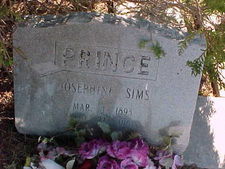 PRINCE, JOSEPHINE  SIMS - Gila County, Arizona   JOSEPHINE  SIMS PRINCE - Arizona Gravestone Photos