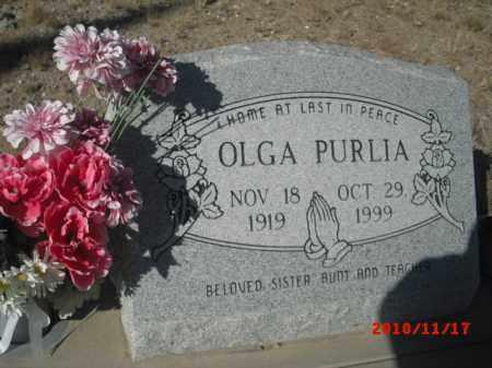 PURLIA, OLGA - Gila County, Arizona | OLGA PURLIA - Arizona Gravestone Photos
