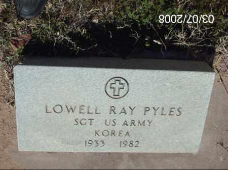 PYLES, LOWELL RAY - Gila County, Arizona | LOWELL RAY PYLES - Arizona Gravestone Photos