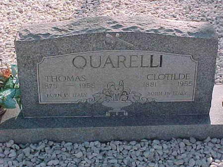 QUARELLI, THOMAS - Gila County, Arizona | THOMAS QUARELLI - Arizona Gravestone Photos