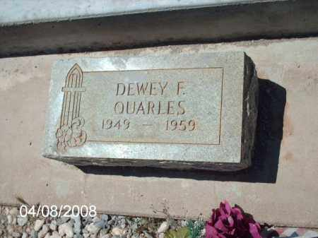 QUARLES, DEWEY F. - Gila County, Arizona | DEWEY F. QUARLES - Arizona Gravestone Photos