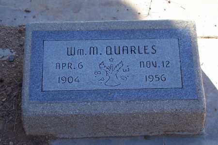 QUARLES, WM. M. - Gila County, Arizona | WM. M. QUARLES - Arizona Gravestone Photos