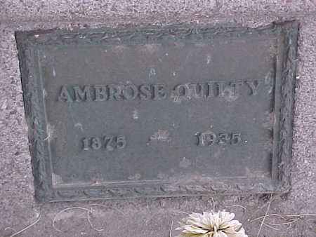 QUILTY, AMBROSE - Gila County, Arizona | AMBROSE QUILTY - Arizona Gravestone Photos