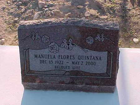 QUINTANA, MANUELA FLORES - Gila County, Arizona | MANUELA FLORES QUINTANA - Arizona Gravestone Photos