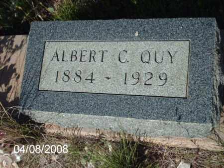 QUY, ALBERT - Gila County, Arizona   ALBERT QUY - Arizona Gravestone Photos