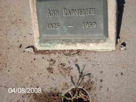 RADMELICH, ANN - Gila County, Arizona | ANN RADMELICH - Arizona Gravestone Photos