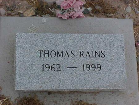 RAINS, THOMAS - Gila County, Arizona | THOMAS RAINS - Arizona Gravestone Photos
