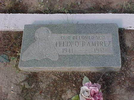 RAMIREZ, FELIX  Q. - Gila County, Arizona   FELIX  Q. RAMIREZ - Arizona Gravestone Photos