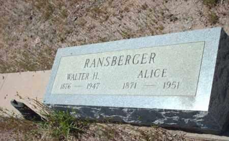 RANSBERGER, ALICE - Gila County, Arizona | ALICE RANSBERGER - Arizona Gravestone Photos