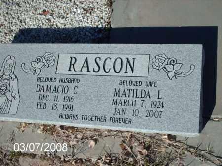 RASCON, DAMACIO - Gila County, Arizona | DAMACIO RASCON - Arizona Gravestone Photos