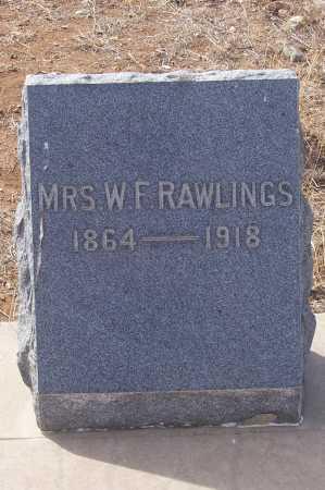 RAWLINGS, MRS. W.F. - Gila County, Arizona   MRS. W.F. RAWLINGS - Arizona Gravestone Photos