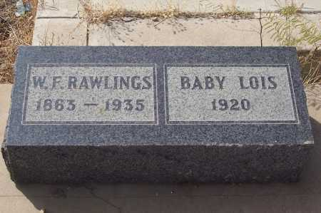 RAWLINGS, W.F. - Gila County, Arizona | W.F. RAWLINGS - Arizona Gravestone Photos