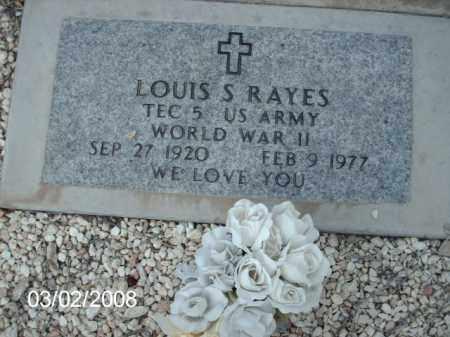 RAYES, LOUIS - Gila County, Arizona | LOUIS RAYES - Arizona Gravestone Photos