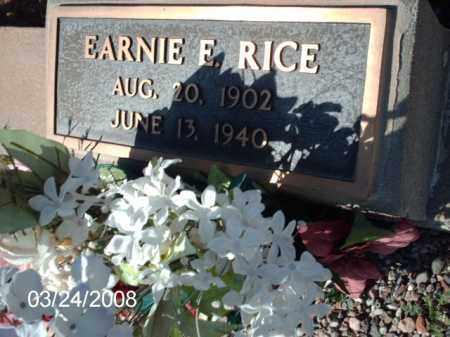 RICE, EARNIE - Gila County, Arizona   EARNIE RICE - Arizona Gravestone Photos