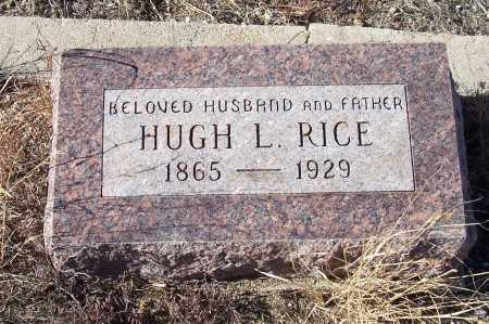 RICE, HUGH L. - Gila County, Arizona | HUGH L. RICE - Arizona Gravestone Photos
