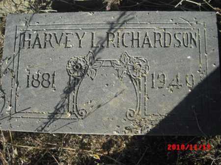 RICHARDSON, HARVEY L. - Gila County, Arizona   HARVEY L. RICHARDSON - Arizona Gravestone Photos