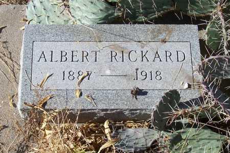 RICKARD, ALBERT - Gila County, Arizona   ALBERT RICKARD - Arizona Gravestone Photos