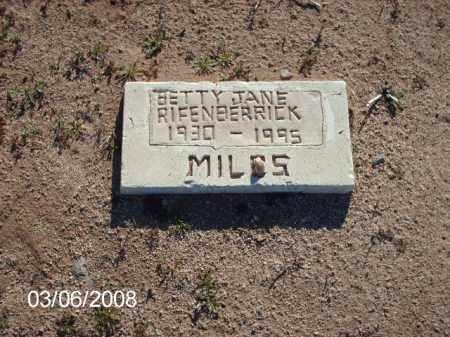 RIFENBERRICK, BETTY - Gila County, Arizona | BETTY RIFENBERRICK - Arizona Gravestone Photos