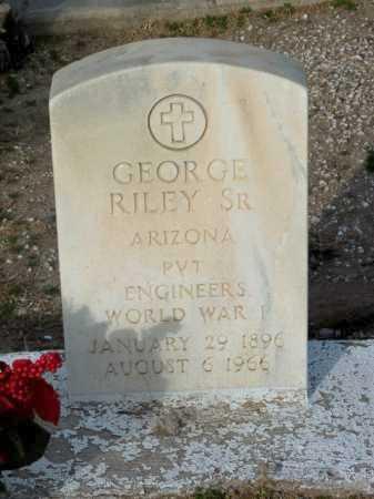 RILEY, GEORGE, SR. - Gila County, Arizona | GEORGE, SR. RILEY - Arizona Gravestone Photos