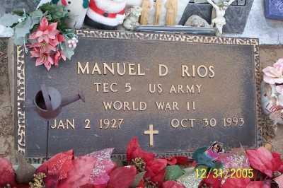 RIOS, MANUEL  D. - Gila County, Arizona | MANUEL  D. RIOS - Arizona Gravestone Photos