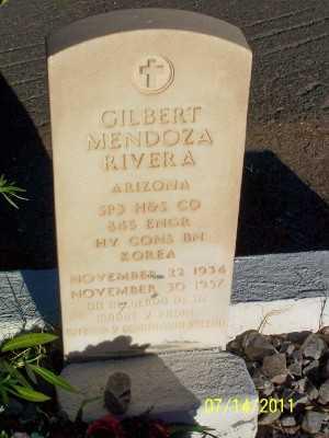 RIVERA, GILBERT MENDOZA - Gila County, Arizona | GILBERT MENDOZA RIVERA - Arizona Gravestone Photos