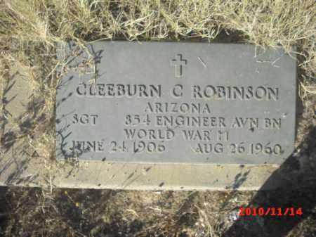ROBINSON, CLEEBURN - Gila County, Arizona | CLEEBURN ROBINSON - Arizona Gravestone Photos