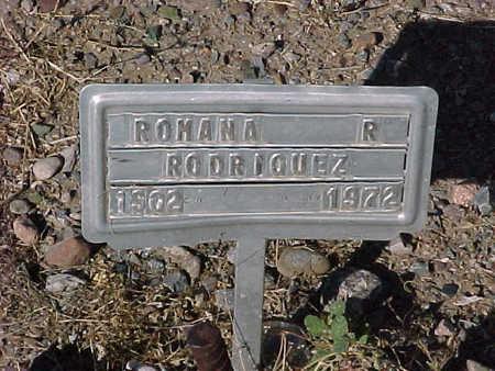 RODRIQUEZ, ROMANA  R. - Gila County, Arizona | ROMANA  R. RODRIQUEZ - Arizona Gravestone Photos