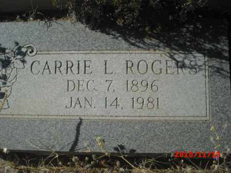 ROGERS, CARRIE  L. - Gila County, Arizona | CARRIE  L. ROGERS - Arizona Gravestone Photos