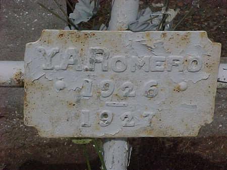 ROMERO, Y. A. - Gila County, Arizona | Y. A. ROMERO - Arizona Gravestone Photos