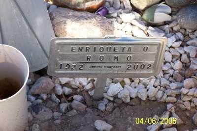 ROMO, ENRIQUETA O. - Gila County, Arizona | ENRIQUETA O. ROMO - Arizona Gravestone Photos