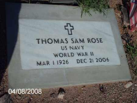 ROSE, THOMAS SAM - Gila County, Arizona | THOMAS SAM ROSE - Arizona Gravestone Photos