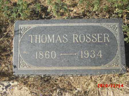 ROSSER, THOMAS - Gila County, Arizona   THOMAS ROSSER - Arizona Gravestone Photos
