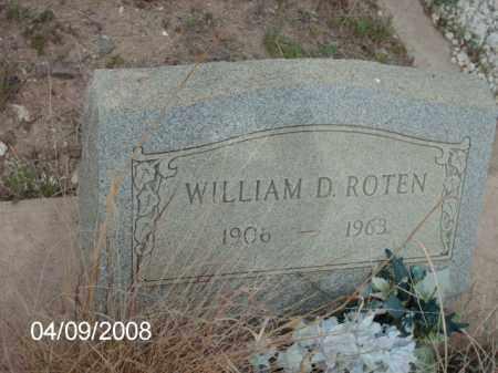 ROTEN, WILLIAM D. - Gila County, Arizona   WILLIAM D. ROTEN - Arizona Gravestone Photos