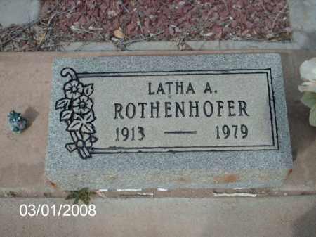 ROTHENHOFER, LATHA - Gila County, Arizona | LATHA ROTHENHOFER - Arizona Gravestone Photos