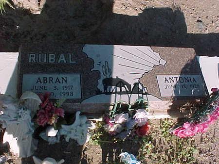 RUBAL, ANTONIA - Gila County, Arizona | ANTONIA RUBAL - Arizona Gravestone Photos