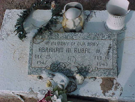 RUBAL, ABRAHAM  M., JR. - Gila County, Arizona   ABRAHAM  M., JR. RUBAL - Arizona Gravestone Photos