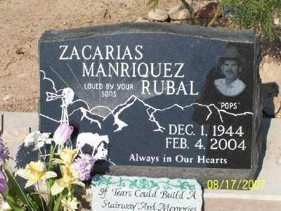RUBAL, ZACARIAS M. - Gila County, Arizona   ZACARIAS M. RUBAL - Arizona Gravestone Photos