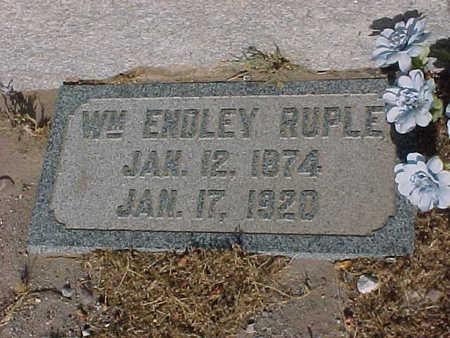 RUPLE, WILLIAM ENDLEY - Gila County, Arizona | WILLIAM ENDLEY RUPLE - Arizona Gravestone Photos