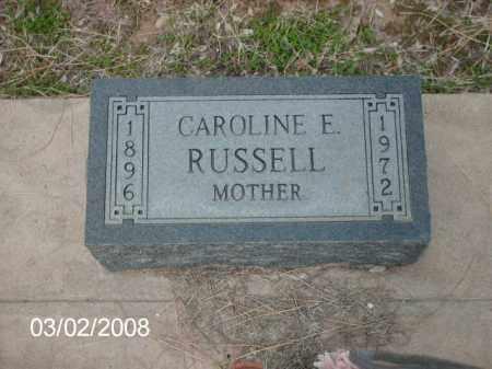 RUSSELL, CAROLINE - Gila County, Arizona | CAROLINE RUSSELL - Arizona Gravestone Photos