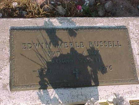 RUSSELL, EDWIN MERLE - Gila County, Arizona   EDWIN MERLE RUSSELL - Arizona Gravestone Photos