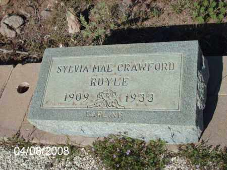 RUYLE, SYLVIA  MAE CRAWFORD - Gila County, Arizona | SYLVIA  MAE CRAWFORD RUYLE - Arizona Gravestone Photos