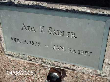 SADLER, ADA - Gila County, Arizona | ADA SADLER - Arizona Gravestone Photos