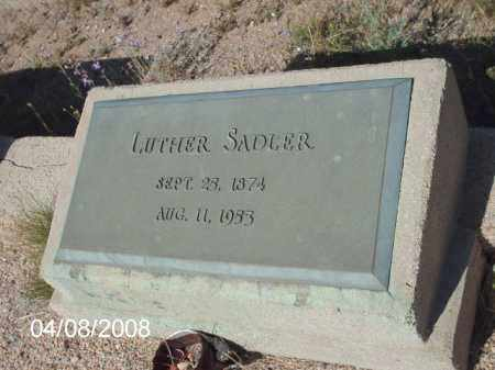 SADLER, LUTHER - Gila County, Arizona | LUTHER SADLER - Arizona Gravestone Photos