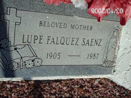 SAENZ, LUPE FALQUEZ - Gila County, Arizona | LUPE FALQUEZ SAENZ - Arizona Gravestone Photos