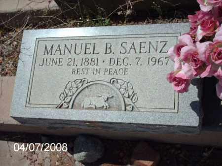 SAENZ, MANUEL B. - Gila County, Arizona | MANUEL B. SAENZ - Arizona Gravestone Photos