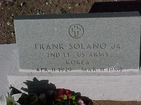 SOLANO, FRANK, JR. - Gila County, Arizona   FRANK, JR. SOLANO - Arizona Gravestone Photos