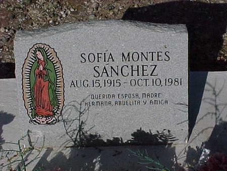 SANCHEZ, SOFIA MONTES - Gila County, Arizona | SOFIA MONTES SANCHEZ - Arizona Gravestone Photos