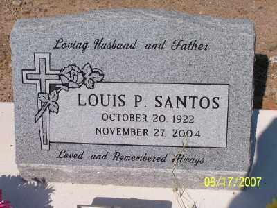 SANTOS, LOUIS P. - Gila County, Arizona | LOUIS P. SANTOS - Arizona Gravestone Photos