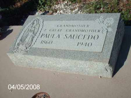 SAUCEDO, PAULA - Gila County, Arizona | PAULA SAUCEDO - Arizona Gravestone Photos